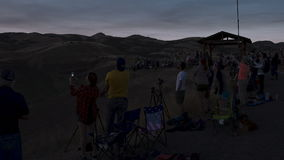 People watching a total solar Eclipse stock video footage