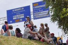People watching the walkers in Nijmegen Stock Photos