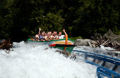 People on the water rollercoaster stock image