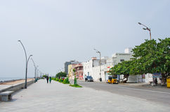People on the waterfront  in Pondicherry, India Royalty Free Stock Photos