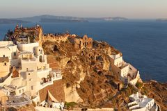 People wating for sunset in Oia Royalty Free Stock Photos