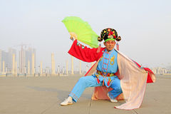 People wear colorful clothes, yangko dance performances in the s Stock Image