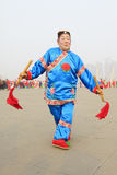People wear colorful clothes, yangko dance performances in the s Royalty Free Stock Photography