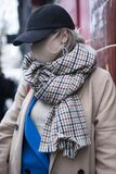 People wear mask for protection. Street style