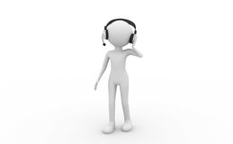 People wearing headphones Stock Images