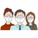 People Wearing Masks for Protection Royalty Free Stock Images