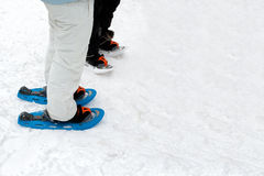 People Wearing Snow Footwear Stock Photos