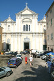 People during a wedding at Sainte-Croix church on the citadel of Royalty Free Stock Images