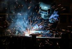 People welding industry Stock Image