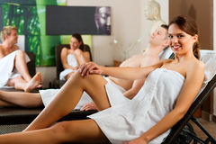 People in wellness relaxation room Royalty Free Stock Image