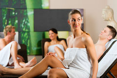 People in wellness relaxation room Stock Photography