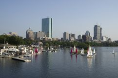 Boston Downtown with river view stock photos