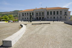 People were standing in front of House of Justice, Guimaraes Royalty Free Stock Images