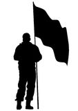 People whit flag five Stock Image