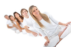People in white Stock Photos