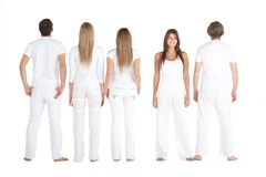 People in white Royalty Free Stock Photos