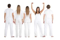 People in white Stock Photo