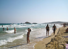 People in white beach with blue crystal sea in summertime at Chi. A as editorial royalty free stock image