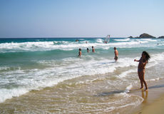 People in white beach with blue crystal sea in summertime at Chi. A as editorial Stock Photography