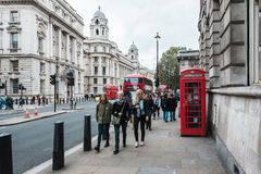 People on whitehall street in London, England Stock Image
