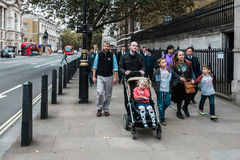 People on whitehall street in London, England Royalty Free Stock Images