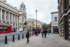 People on whitehall street in London, England Royalty Free Stock Photos
