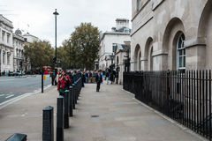 People on whitehall street in London, England Stock Images