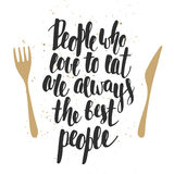 People who love to eat are always the best people Royalty Free Stock Image