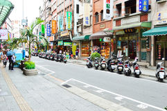 People who are shopping in Tamsui Old Street Royalty Free Stock Images