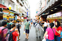 People who are shopping in Tamsui Old Street Stock Photos