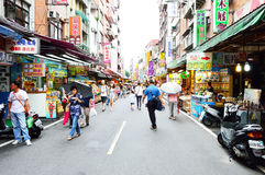 People who are shopping in Tamsui Old Street Royalty Free Stock Photo