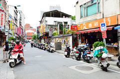 People who are shopping in Tamsui Old Street Royalty Free Stock Image