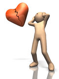 People who suffer from a broken heart. This is a computer generated image,on white background Stock Photo