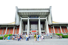 People who visit the temple Sun Yat sen temple Royalty Free Stock Image
