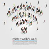 People wifi sign. People wifi sign connect isometric. Vector illustration Stock Images