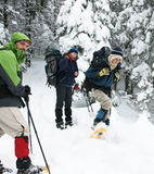 People in winter hiking Royalty Free Stock Photography