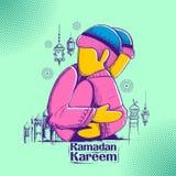 People wishing Ramadan Kareem Generous Ramadan for Islam religious festival Eid on holy month of Ramazan. Illustration of people wishing Ramadan Kareem Generous Stock Images