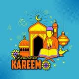 People wishing Ramadan Kareem Generous Ramadan for Islam religious festival Eid on holy month of Ramazan. Illustration of people wishing Ramadan Kareem Generous Stock Photo