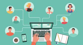 Free People With Different And Expert Skills Connecting Working Online Together On Laptop Royalty Free Stock Photography - 185762187