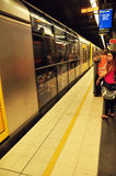 People withing Subway Train at Sydney Stock Photo