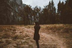 People, Woman, Black, Dress, Coat Stock Photography