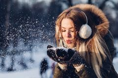 People, Woman, Cold, Weather, Snow Royalty Free Stock Photography