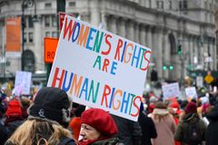 Women`s Unity March New York City royalty free stock image