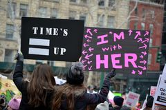 Women`s Unity March New York City royalty free stock images