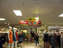People wonder around Macy Store Closing sale. HONOLULU, HI - JANUARY 7: People wonder around Downtown Honolulu Macy Store Closing sale featuring the entire store stock photography