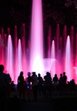 People wondering colourful fountain in Budapest Stock Photography