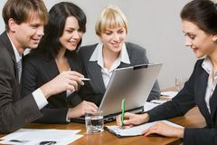 People at work. Contemporary business people working together in the office Royalty Free Stock Photo