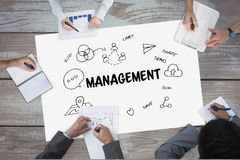 People with work business ideas graphic drawings Royalty Free Stock Images