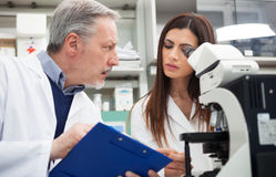 People at work in a laboratory Royalty Free Stock Photos