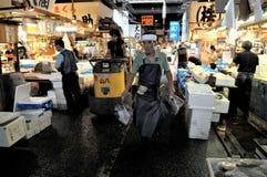 Tokyo the fish market stock photography